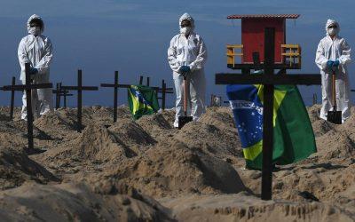 Brasil se acerca a los 70.000 muertos por Covid-19, con 1.220 el último día