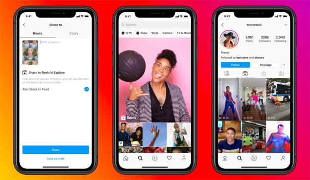 """Instagram vuelve a """"fusilar"""" a la competencia y lanza un clon de TikTok: Reels"""