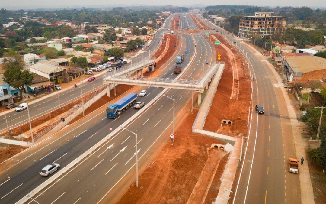 En zona urbana de Caaguazú se habilita nuevo tramo de duplicación de la Ruta PY02
